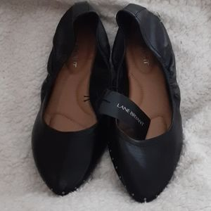 Lane Bryant black slip on shoes
